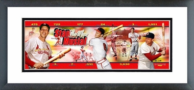 Stan Musial - Framed / Double Matted Photoramic