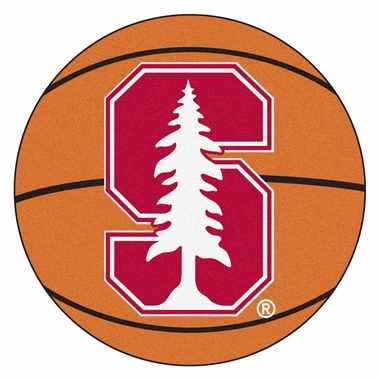 Stanford 27 Inch Basketball Shaped Rug