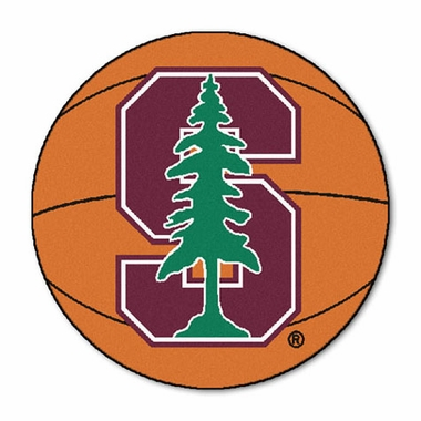 Stanford Basketball Shaped Rug