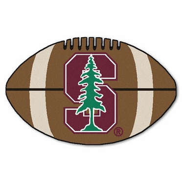 Stanford Football Shaped Rug