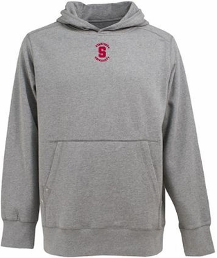 Stanford Mens Signature Hooded Sweatshirt (Color: Gray)