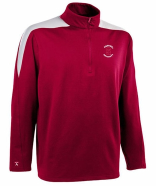 Stanford Mens Succeed 1/4 Zip Performance Pullover (Team Color: Red)