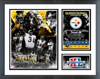Steelers Super Bowl XL Champions  /  Framed Milestones & Memories