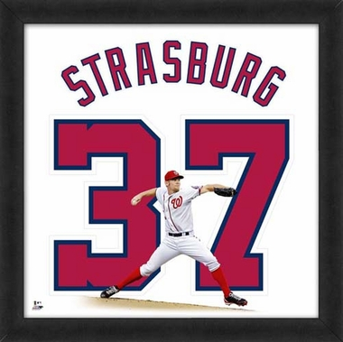 "Stephen Strasburg, Nationals Uniframe - 20"" x 20"""