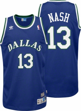Steve Nash Dallas Mavericks Adidas Throwback Blue Swingman Jersey