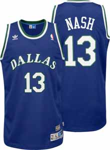 Steve Nash Dallas Mavericks Adidas Throwback Blue Swingman Jersey - Large