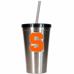 Syracuse 16oz Stainless Steel Insulated Tumbler with Straw