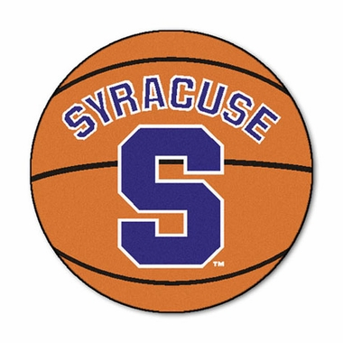 Syracuse 27 Inch Basketball Shaped Rug