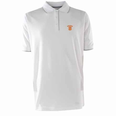 Syracuse Mens Elite Polo Shirt (Color: White)