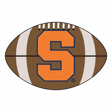 Syracuse Football Shaped Rug