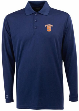 Syracuse Mens Long Sleeve Polo Shirt (Color: Navy)