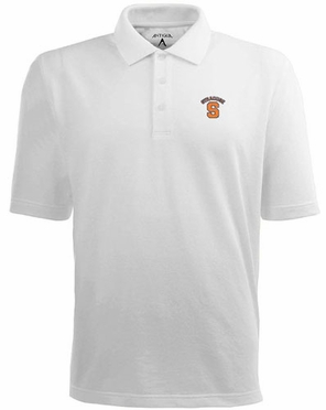 Syracuse Mens Pique Xtra Lite Polo Shirt (Color: White)
