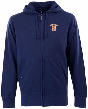 Syracuse Mens Signature Full Zip Hooded Sweatshirt (Color: Navy)