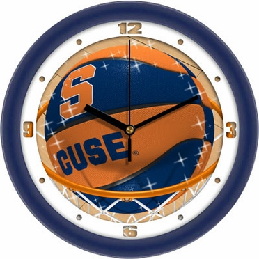 Syracuse Slam Dunk Wall Clock