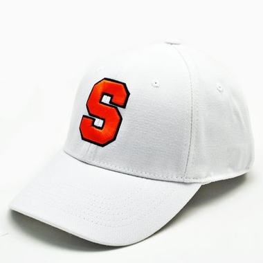 Syracuse White Premium FlexFit Baseball Hat