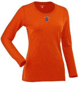 Syracuse Womens Relax Long Sleeve Tee (Team Color: Orange) - Large