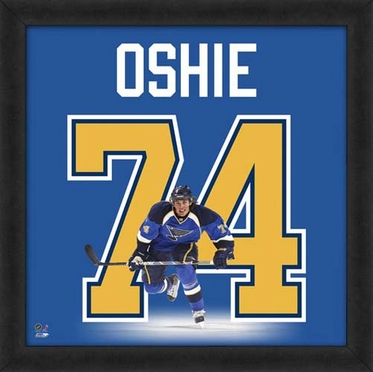 "T.J. Oshie, Blues UNIFRAME 20"" x 20"""