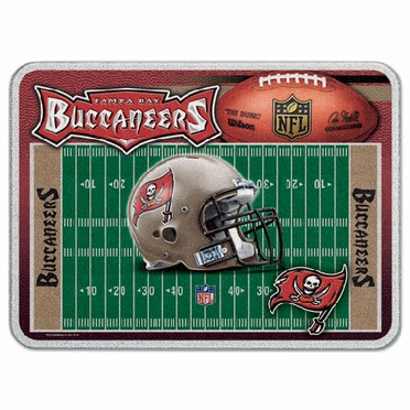 Tampa Bay Buccaneers 11 x 15 Glass Cutting Board