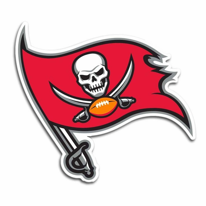 Tampa Bay Buccaneers 12 Quot Right Logo Car Magnet