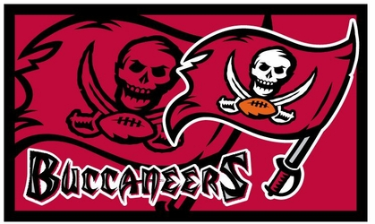 Tampa Bay Buccaneers 18x30 Bleached Welcome Mat
