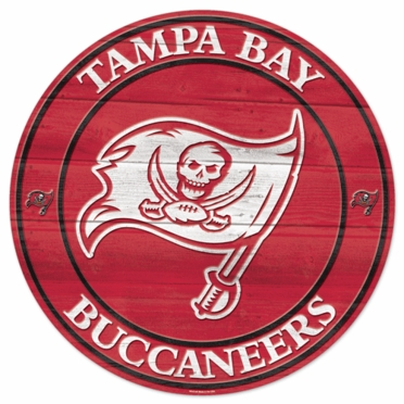Tampa Bay Buccaneers 19.75 Inch Wood Sign