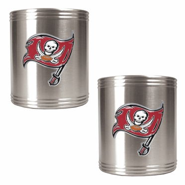 Tampa Bay Buccaneers 2 Can Holder Set