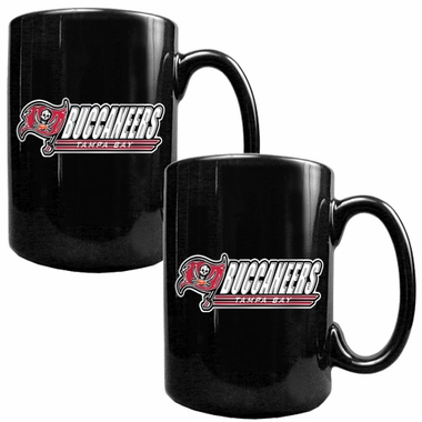 Tampa Bay Buccaneers 2 Piece Coffee Mug Set (Wordmark)