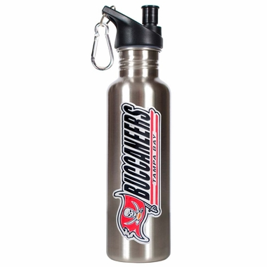 Tampa Bay Buccaneers 26oz Stainless Steel Water Bottle (Silver)