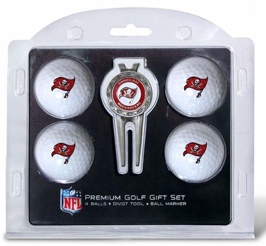 Tampa Bay Buccaneers 4 Ball and Divot Tool Set