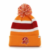 Youth Tampa Bay Buccaneers Red Basic Cuffed Knit Hat With Pom