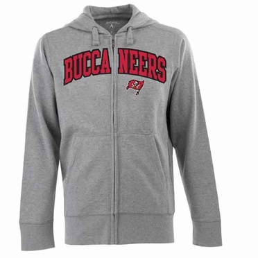 Tampa Bay Buccaneers Mens Applique Full Zip Hooded Sweatshirt (Color: Gray)