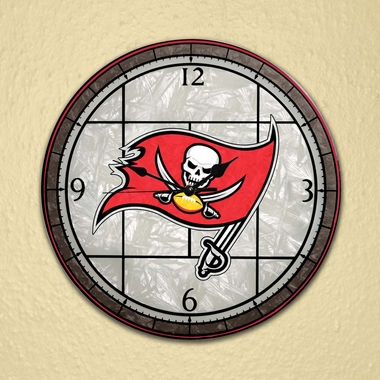 Tampa Bay Buccaneers Art Glass Clock