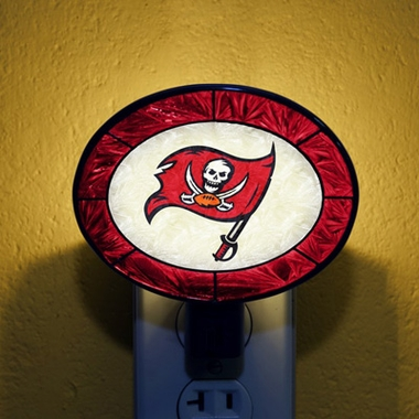 Tampa Bay Buccaneers Art Glass Night Light