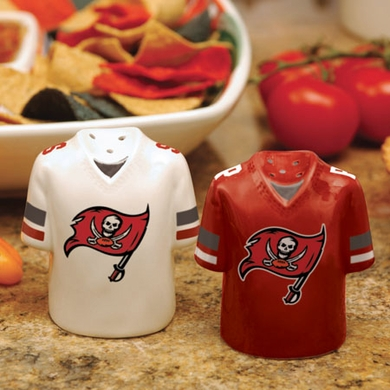 Tampa Bay Buccaneers Ceramic Jersey Salt and Pepper Shakers