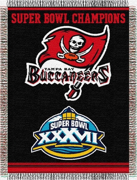 Tampa Bay Buccaneers Commerative Jacquard Woven Blanket