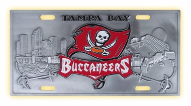 Tampa Bay Buccaneers Deluxe Collector's License Plate