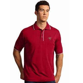 Tampa Bay Buccaneers Mens Elite Polo Shirt (Team Color: Red) - Small