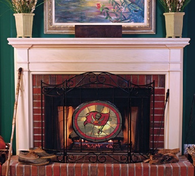 Tampa Bay Buccaneers Fireplace Screen