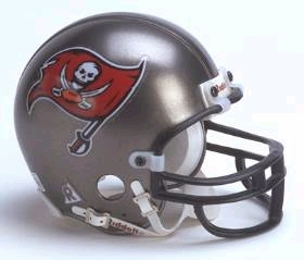 Tampa Bay Buccaneers 1997-2013 Throwback Replica Mini Helmet w/ Z2B Face Mask