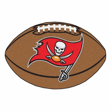Tampa Bay Buccaneers Football Shaped Rug