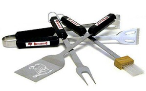 Tampa Bay Buccaneers Grill BBQ Utensil Set