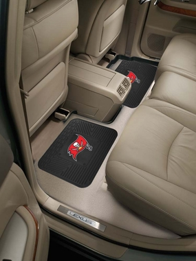 Tampa Bay Buccaneers SET OF 2 Heavy Duty Vinyl Rear Car Mats