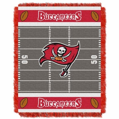 Tampa Bay Buccaneers Jacquard BABY Throw Blanket