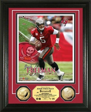 Tampa Bay Buccaneers Josh Freeman 24KT Gold Coin Photo Mint