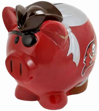 Tampa Bay Buccaneers Large Thematic Piggy Bank