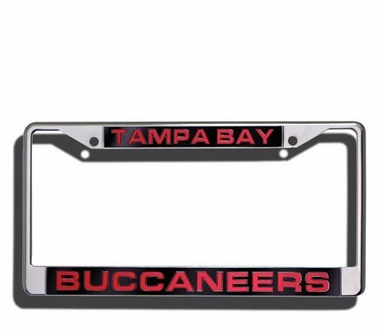 Tampa Bay Buccaneers Laser Etched Chrome License Plate Frame