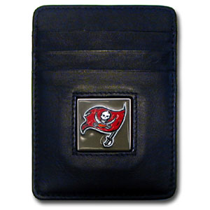 Tampa Bay Buccaneers Leather Money Clip