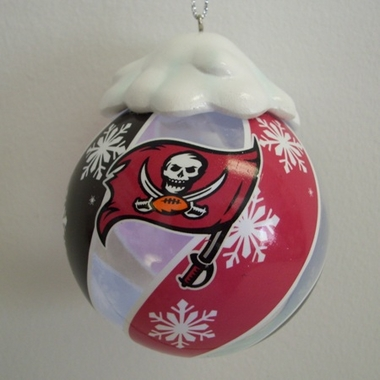 Tampa Bay Buccaneers Light Up Glass Ball Ornament