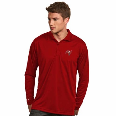 Tampa Bay Buccaneers Mens Long Sleeve Polo Shirt (Team Color: Red)