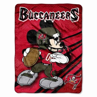 Tampa Bay Buccaneers Mickey Mouse Microfiber Throw